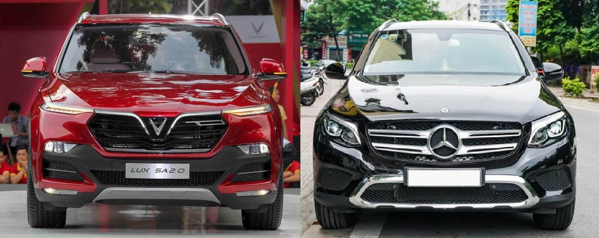 Ngoại thất xe Lux SA2.0 và GLC 200