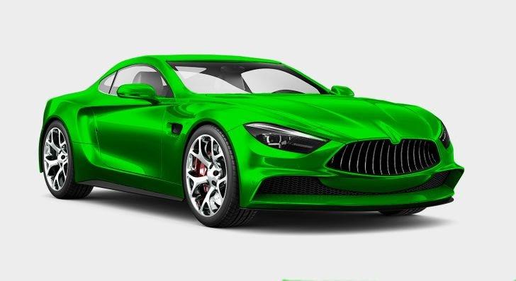 xe ô tô màu xanh lá