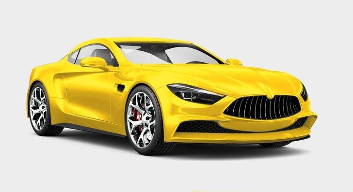 xe ô tô màu vàng